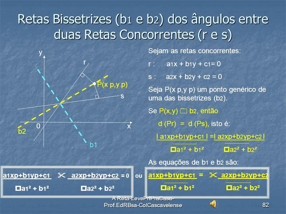 A Reta-LevePrfPraCasa- Prof.EdRBsa-ColCascavelense81 Ex:51 Determinar a área do triângulo limitado pelas retas r: y = 2x; s: y = 4x-8 e t: y = -2x+ 4.