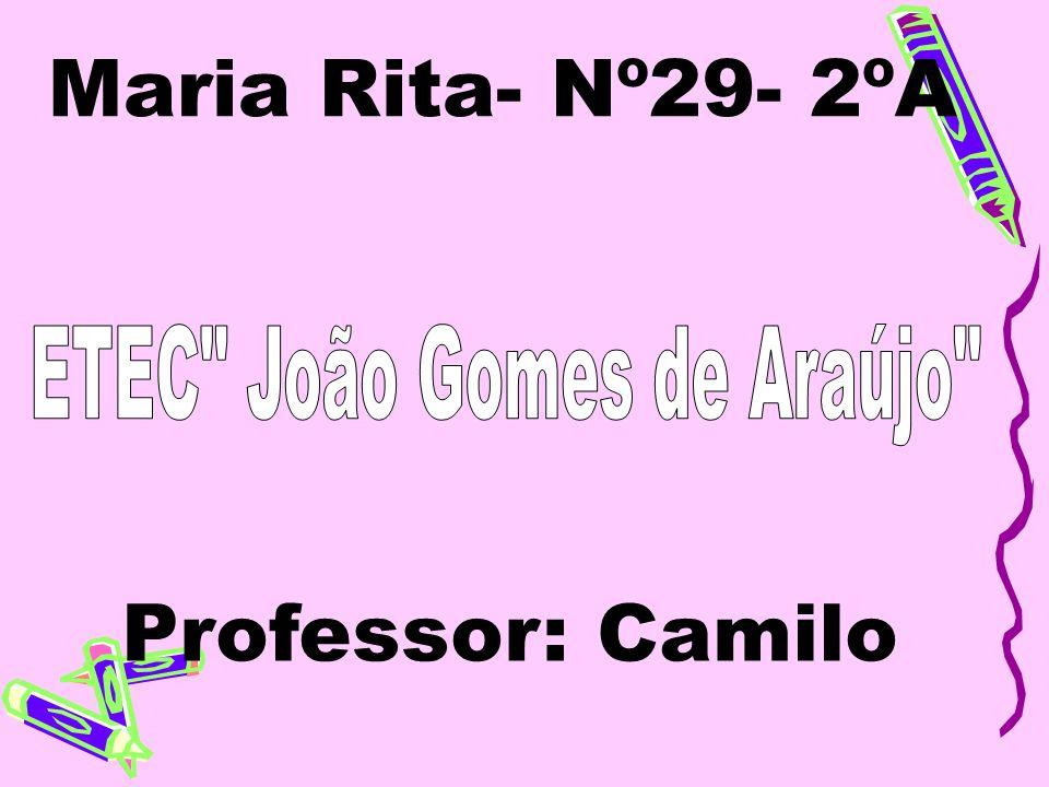Maria Rita- Nº29- 2ºA Professor: Camilo