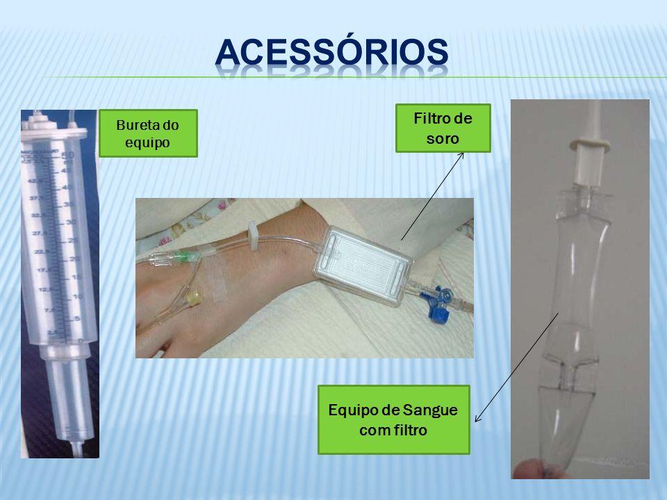 A Tampinha/conector: Pode ser com revestimento de latéx autoselante que permite a perfuração com agulha para administração de medicamentos.
