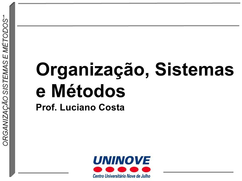 1 ORGANIZAÇÃO SISTEMAS E MÉTODOS Organização, Sistemas e Métodos Prof. Luciano Costa