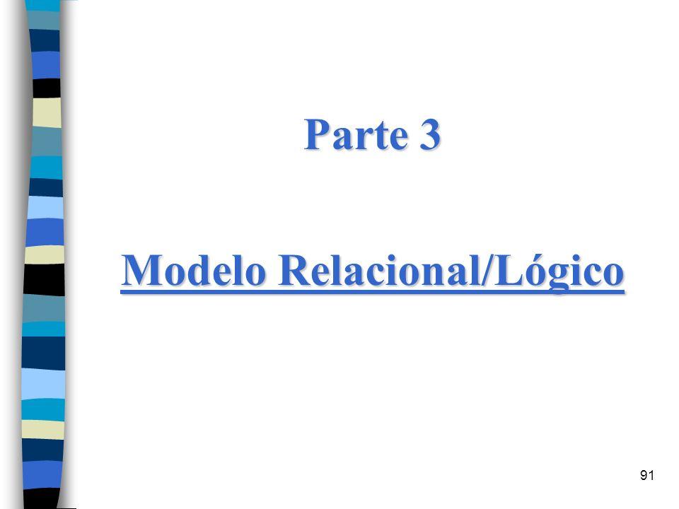 91 Parte 3 Modelo Relacional/Lógico