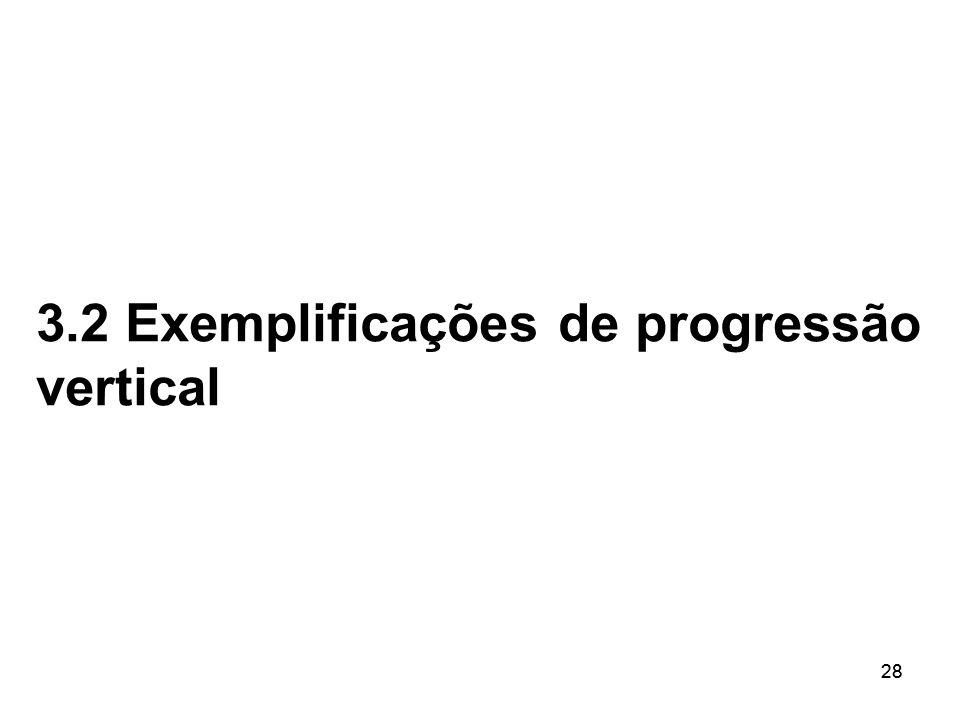 28 3.2 Exemplificações de progressão vertical