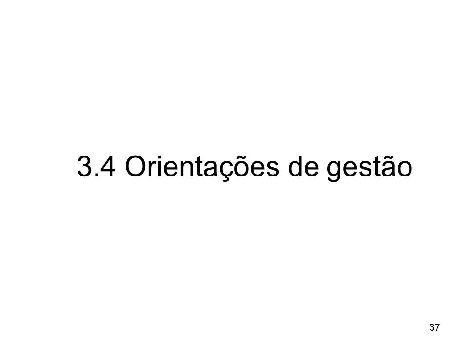 37 3.4 Orientações de gestão