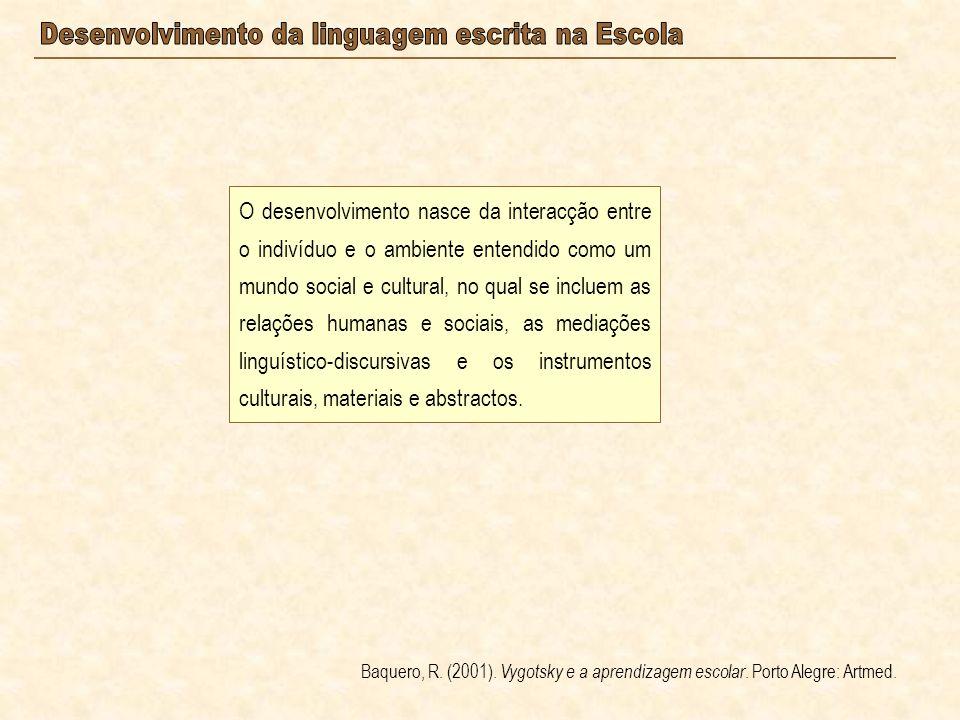 O desenvolvimento nasce da interacção entre o indivíduo e o ambiente entendido como um mundo social e cultural, no qual se incluem as relações humanas