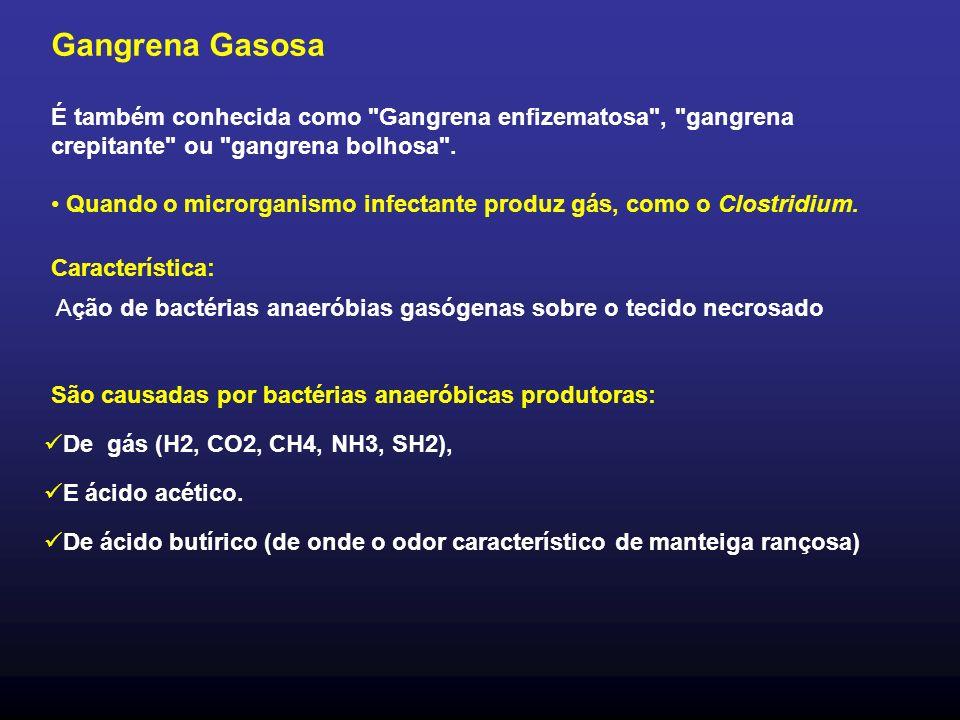 Gangrena Gasosa É também conhecida como