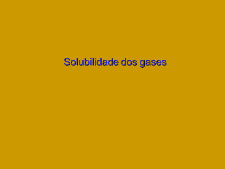 Solubilidade dos gases