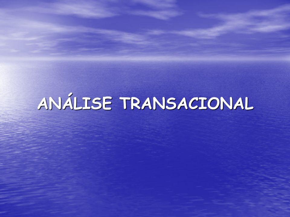 A Análise Transacional é: 1.uma filosofia; 2. uma teoria do desenvolvimento da personalidade; e 3.