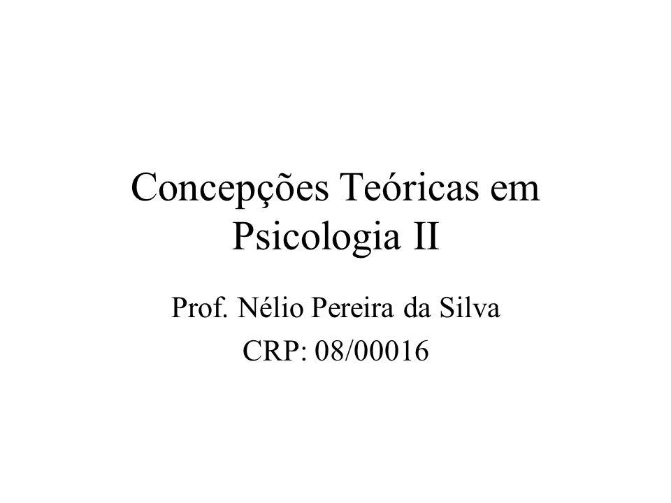 Concepções Teóricas em Psicologia II Prof. Nélio Pereira da Silva CRP: 08/00016