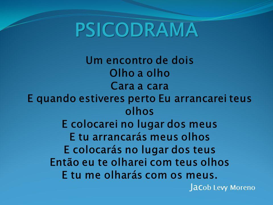 PSICODRAMA É o tratamento do individuo e do grupo através da ação dramatica