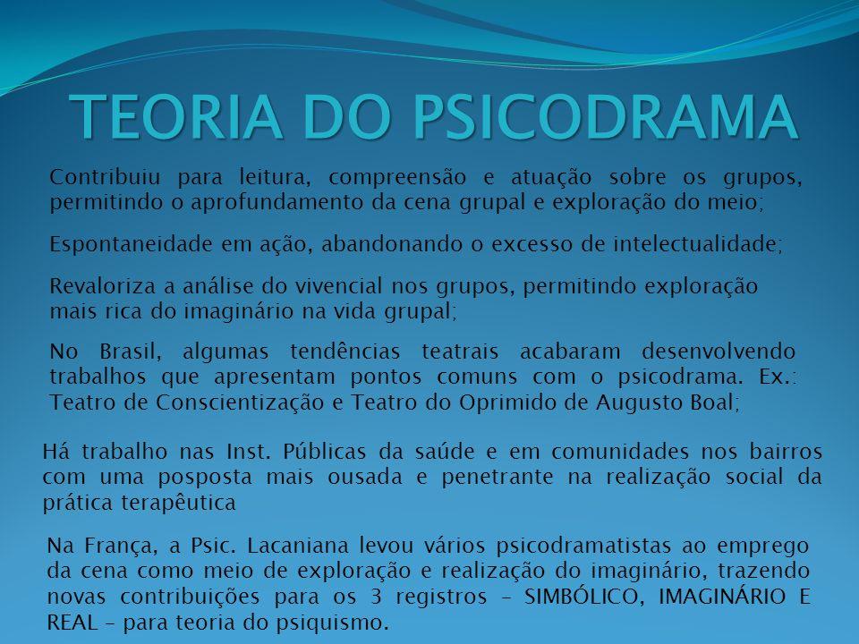OBSERVAÇÕES O Psicodrama Psicanalítico tem aqui, como teoria de referência, a Metapsicologia de Freud.