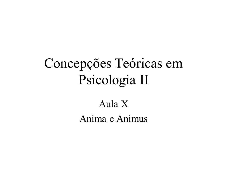 Concepções Teóricas em Psicologia II Aula X Anima e Animus