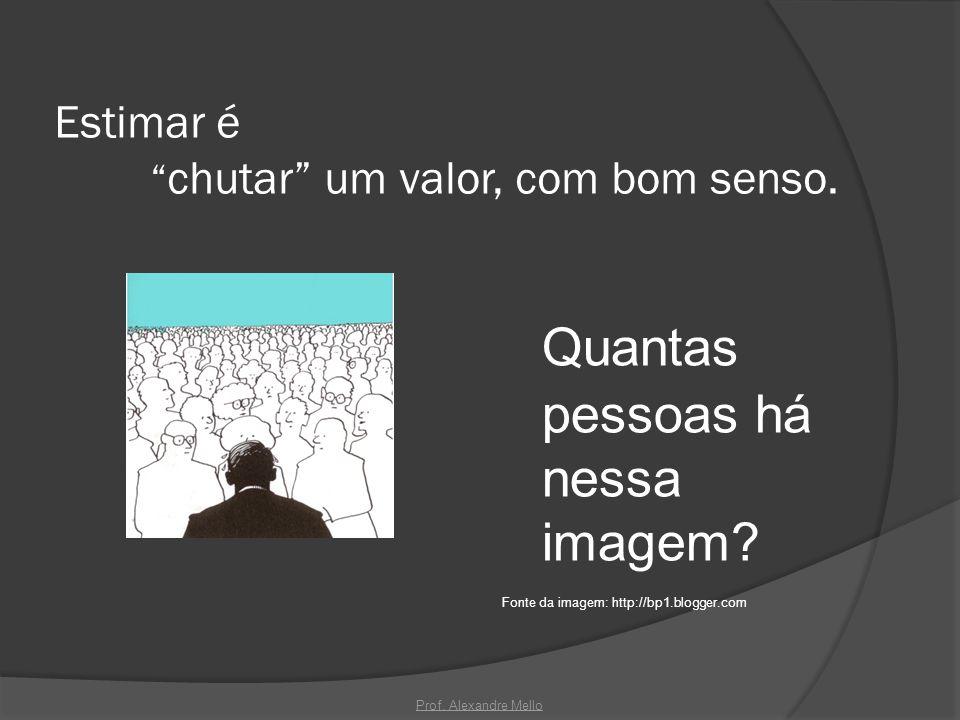 Estimar é chutar um valor, com bom senso. Quantas pessoas há nessa imagem? Fonte da imagem: http://bp1.blogger.com Prof. Alexandre Mello