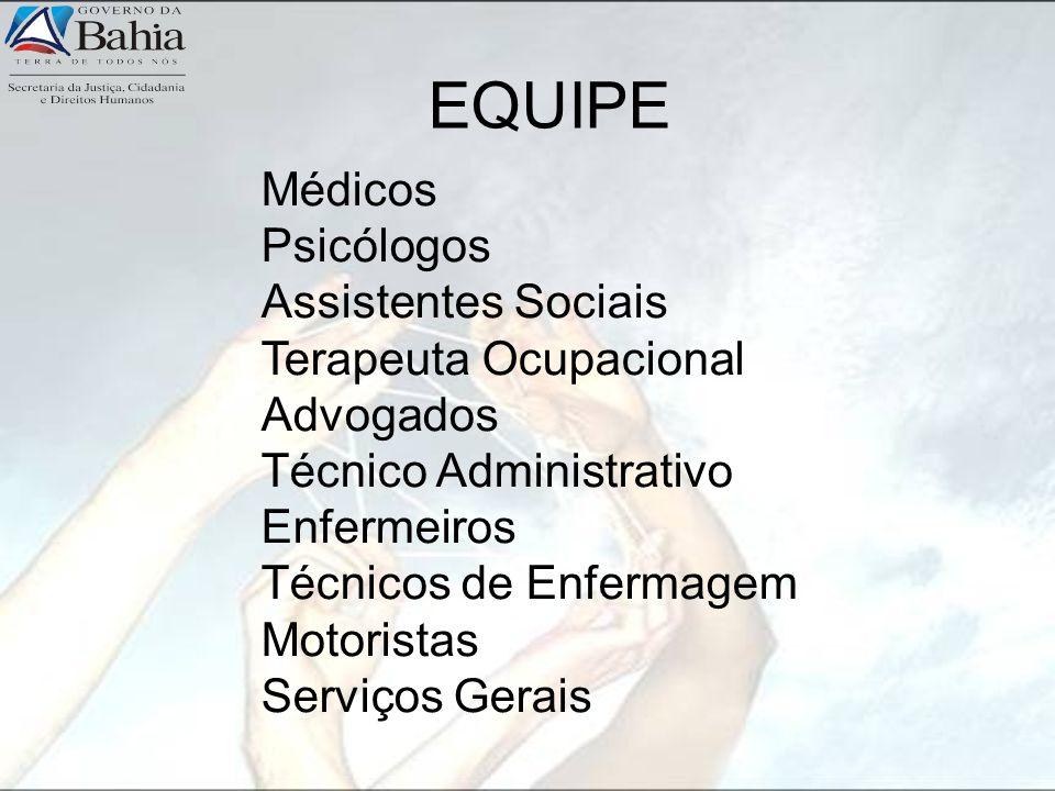 Médicos Psicólogos Assistentes Sociais Terapeuta Ocupacional Advogados Técnico Administrativo Enfermeiros Técnicos de Enfermagem Motoristas Serviços G