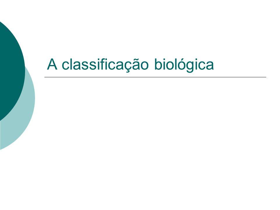 A classificação biológica