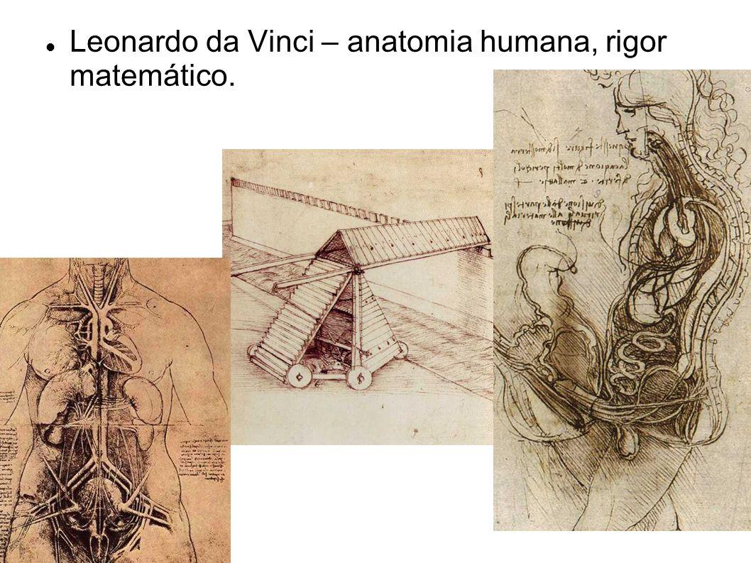 Leonardo da Vinci – anatomia humana, rigor matemático.