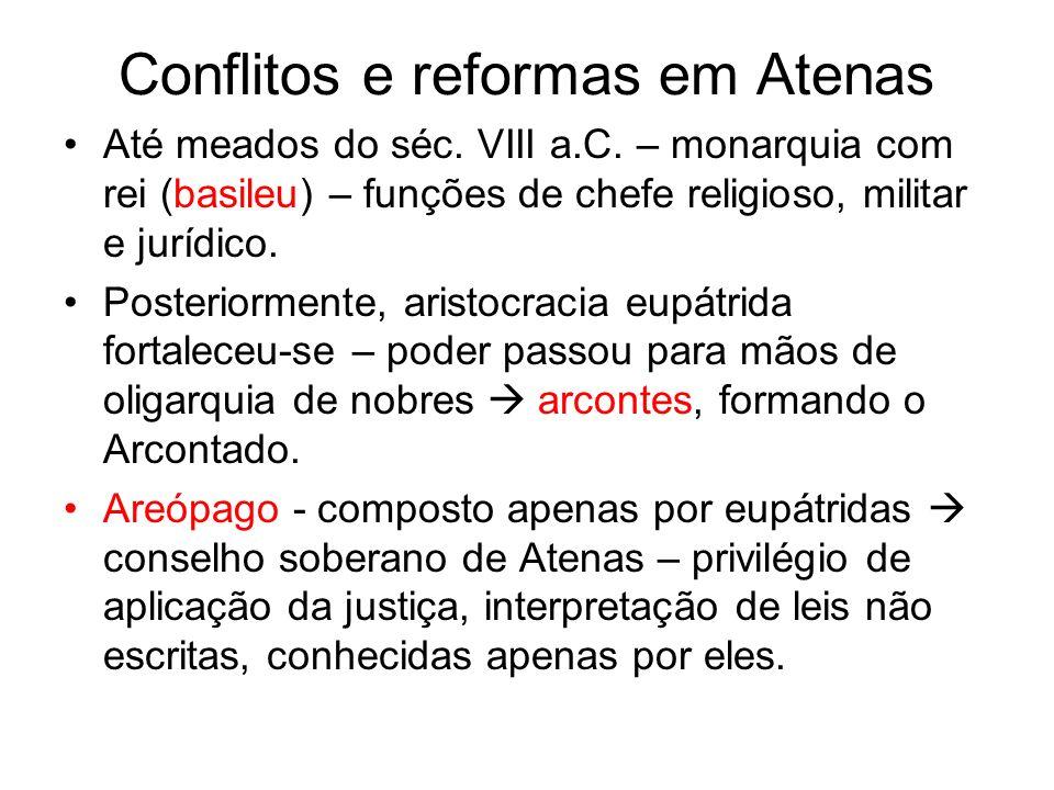 Conflitos e reformas em Atenas Até meados do séc.VIII a.C.