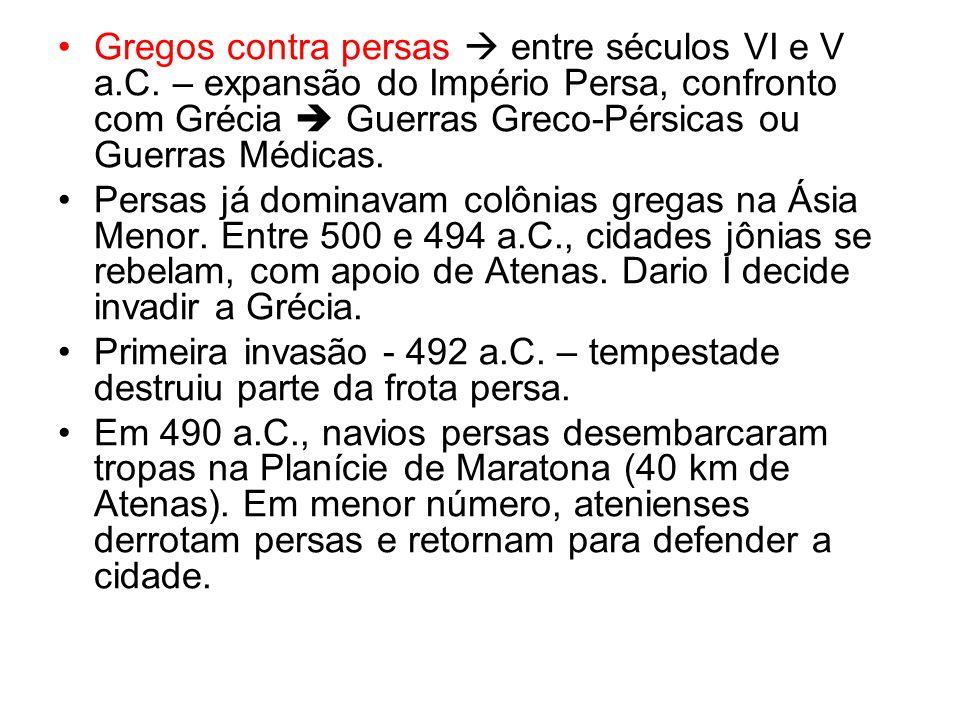 Gregos contra persas entre séculos VI e V a.C.