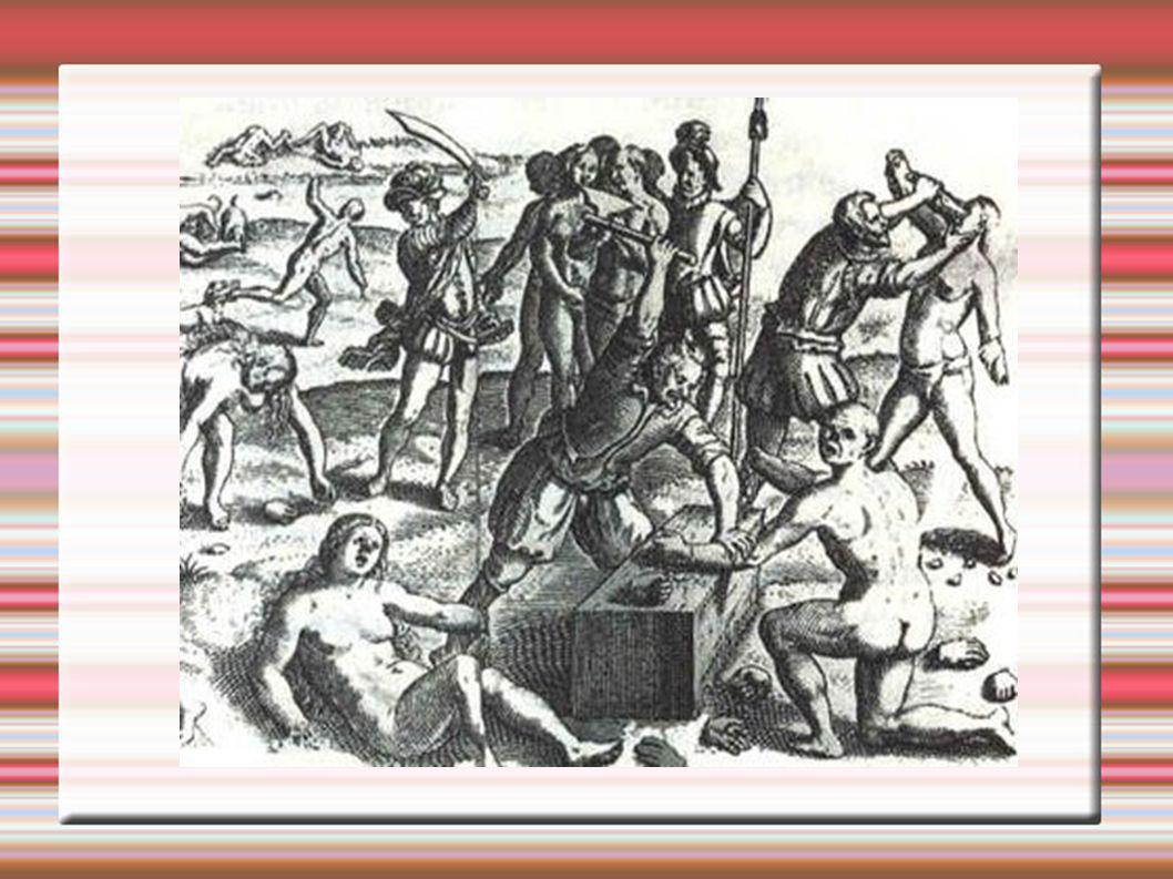 Astecas jubjugados Hernán Cortez – chega a Hispaniola em 1504, aos 19 anos.