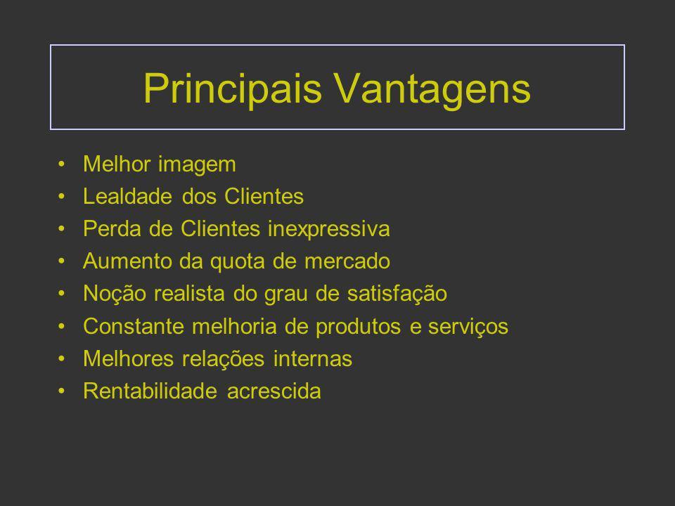 Envolvimento Top Management Fundamental na forma como internamente se transmite a motivação e o incentivo à satisfação dos clientes, Clarificação da cultura e da postura,
