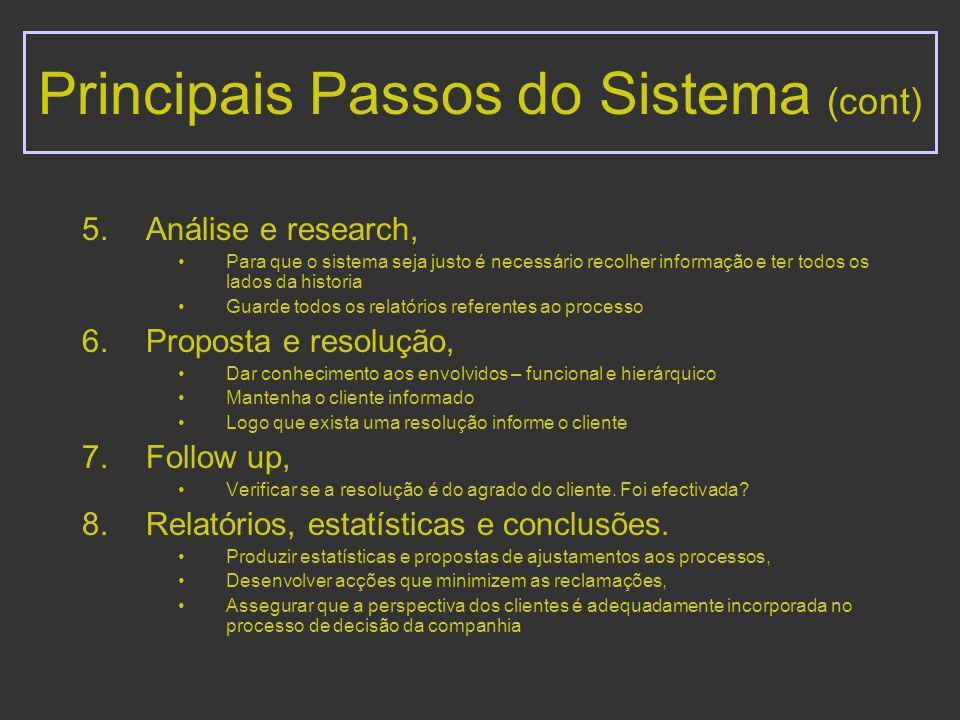 Gestão de reclamações incorpora as seguintes componentes: Cultura, Organização, Processo, Avaliação de resultados.