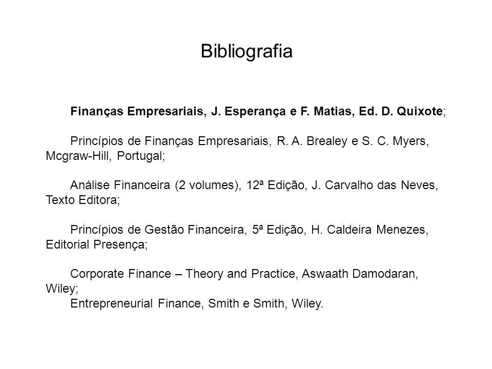 Bibliografia Finanças Empresariais, J.Esperança e F.