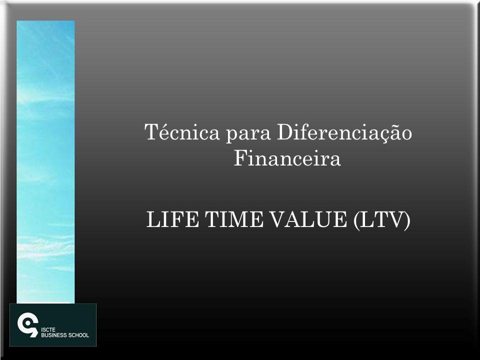 Técnica para Diferenciação Financeira LIFE TIME VALUE (LTV)