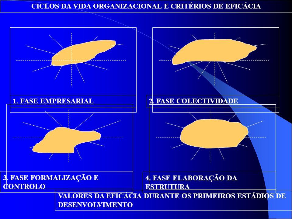 DescentralizaçãoDiferenciação Posição competitiva no sistema global Manutenção do sistema sócio-técnico Centralização Integração MODELO DOS SISTEMAS A