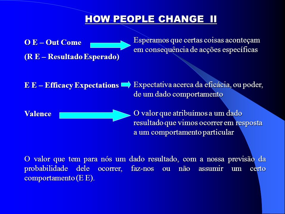 HOW PEOPLE CHANGE (Jerry I.