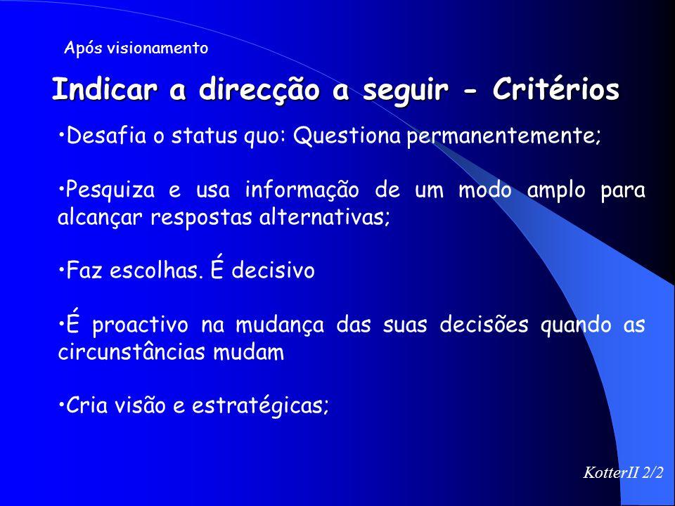 Planear vs Indicar a direcção a seguir Planear Criar Ordem; Eliminar o Risco; Estrutura a Curto Prazo; Dedutiva Criam Planos Indicar a direcção a segu