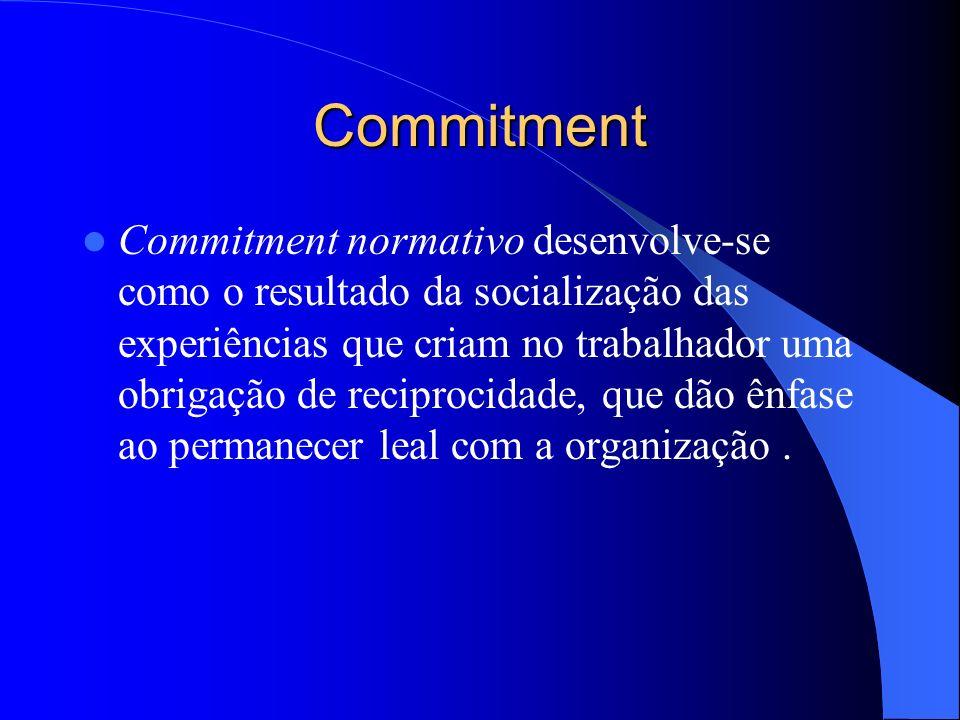 Commitment Commitment de continuação desenvolve-se presumivelmente quando os funcionários reconhecem que acumularam investimentos que perderão se deix