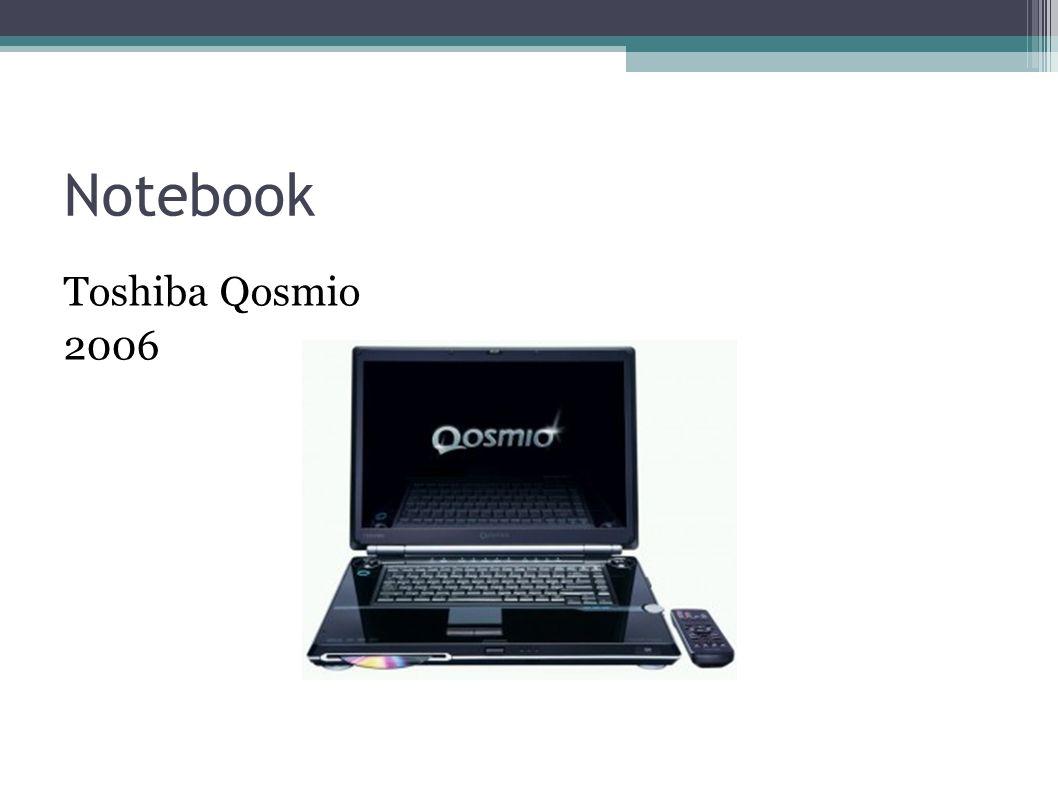 Notebook Toshiba Qosmio 2006