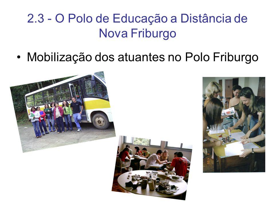 2.3 - O Polo de Educação a Distância de Nova Friburgo Mobilização dos atuantes no Polo Friburgo