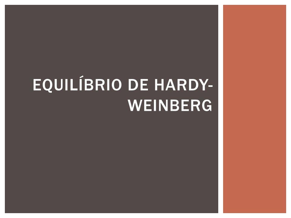 EQUILÍBRIO DE HARDY- WEINBERG
