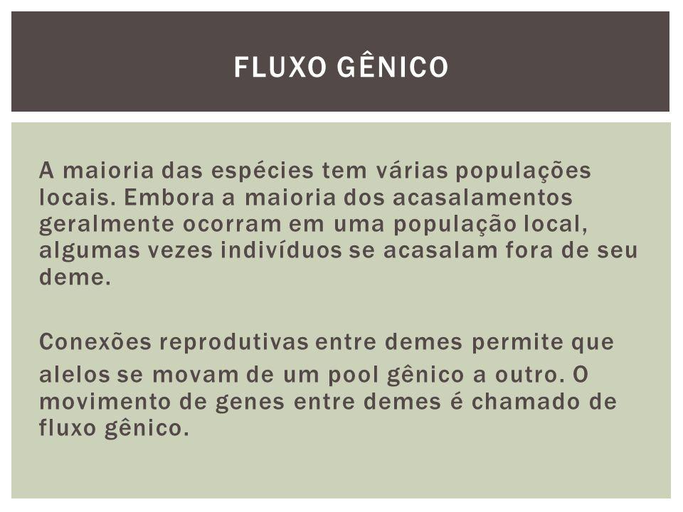 Estimativas de Fluxo gênico podem ser feitas através de dois tipos de métodos: Diretos - em que os indivíduos ou os gametas são considerados para a estimativa direta de fluxo.