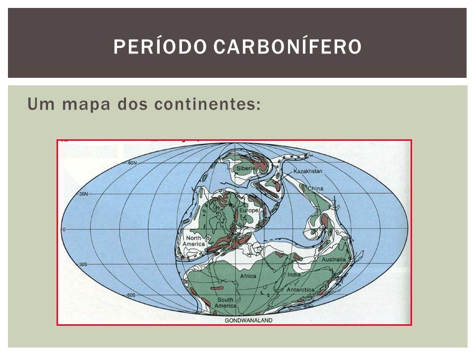 Um mapa dos continentes: PERÍODO CARBONÍFERO