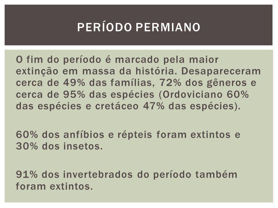 O fim do período é marcado pela maior extinção em massa da história.