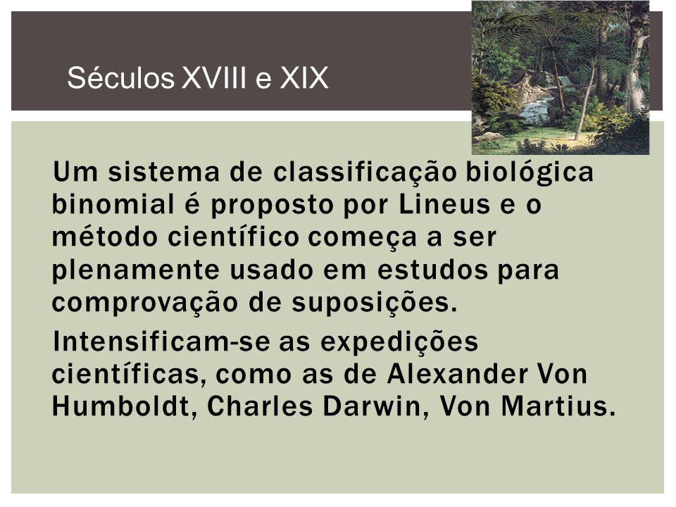 Um sistema de classificação biológica binomial é proposto por Lineus e o método científico começa a ser plenamente usado em estudos para comprovação d