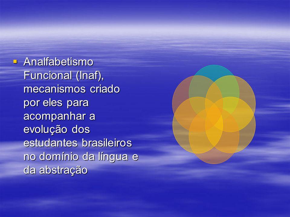 Analfabetismo Funcional (Inaf), mecanismos criado por eles para acompanhar a evolução dos estudantes brasileiros no domínio da língua e da abstração A