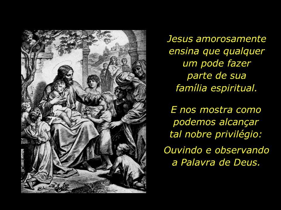 Com tais palavras, Jesus enfatiza que a bem-aventurança de sua santa mãe é porque ela guarda a Palavra de Deus, e não somente porque nela a Palavra se