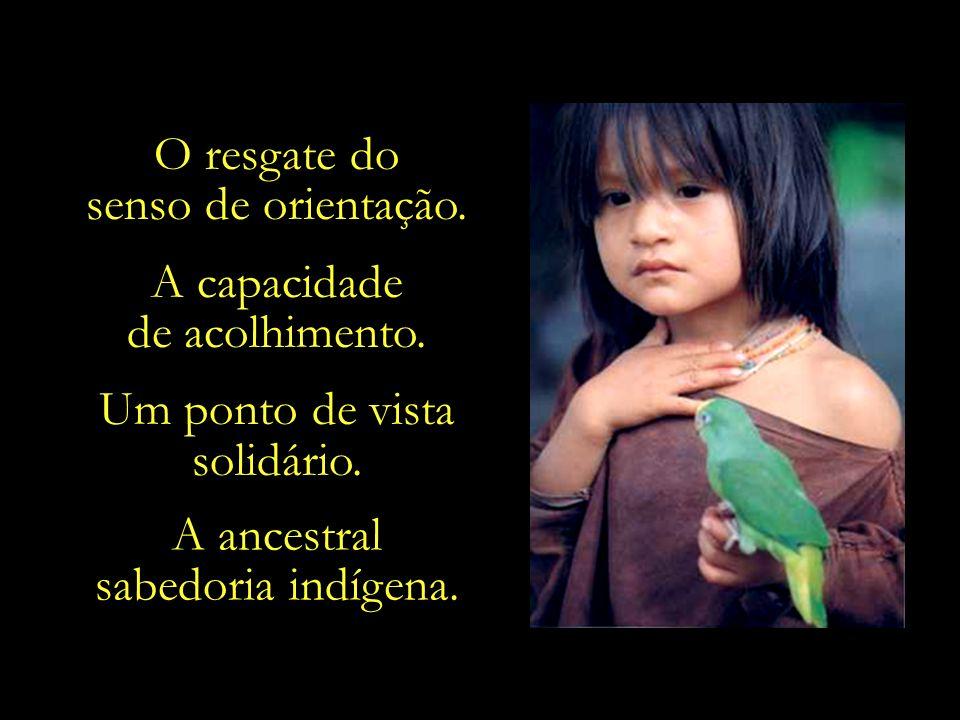 Valores estes tão presentes e vivos nas culturas indígenas.
