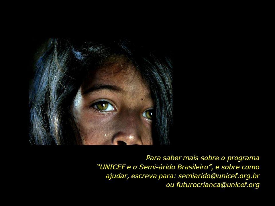 O programa UNICEF e o Semi-árido Brasileiro conta com o apoio e as doações de particulares. As quantias recebidas são destinadas à melhoria das condiç