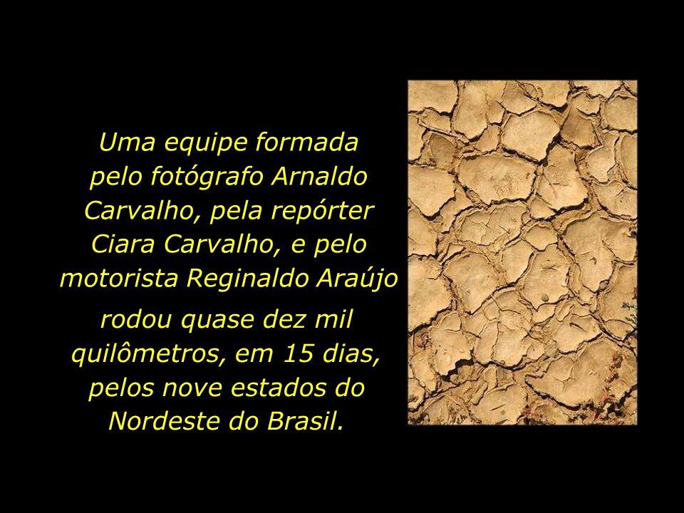 Uma equipe formada pelo fotógrafo Arnaldo Carvalho, pela repórter Ciara Carvalho, e pelo motorista Reginaldo Araújo rodou quase dez mil quilômetros, e