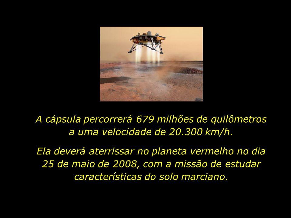 A cápsula percorrerá 679 milhões de quilômetros a uma velocidade de 20.300 km/h.