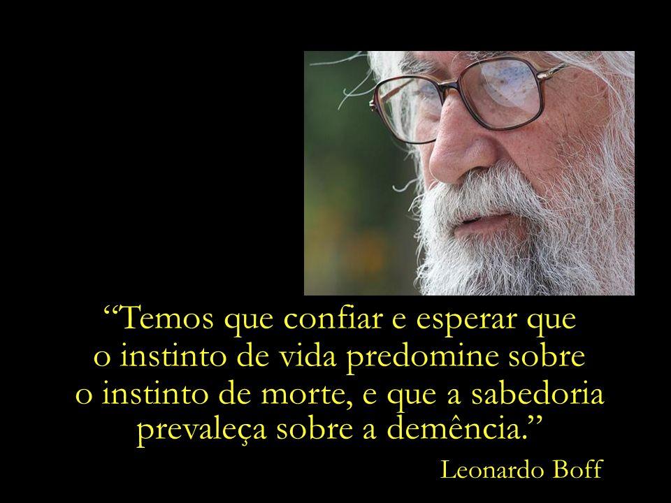 Nunca deixe morrer o sonho de uma humanidade melhor. Leonardo Boff