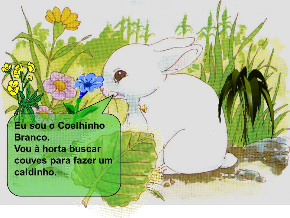 Era uma vez um coelhinho branco que foi à horta buscar couves para fazer um caldinho. Então a Cabra Cabrês aproveitou a ausência do Coelhinho Branco e