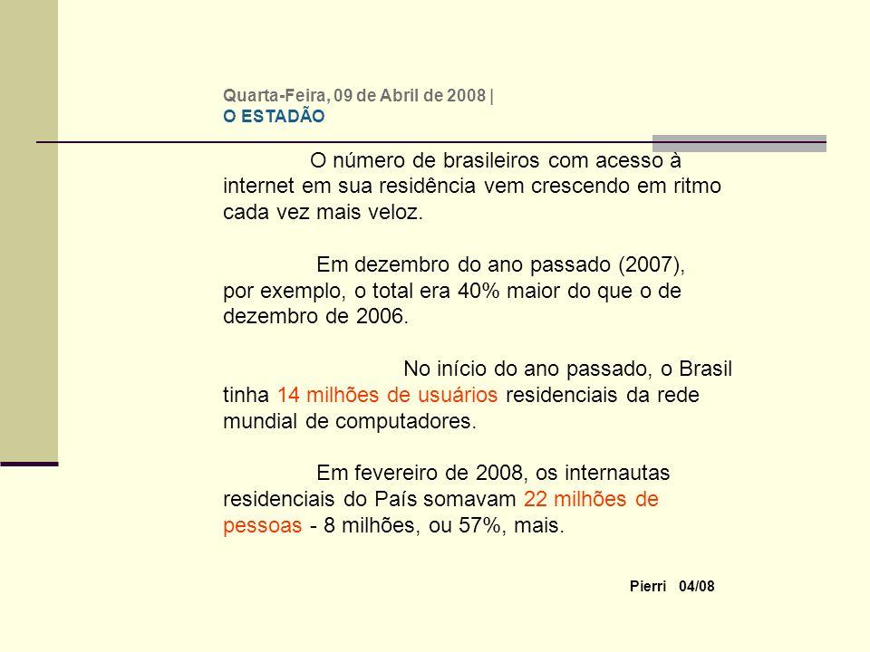 Pierri 04/08 Quarta-Feira, 09 de Abril de 2008 | Versão Impressa 0 comentário(s) comentário(s) Avalie esta Notícia Ruim Regular Bom Ótimo Excelente 0 votos Mais internautas Tamanho do texto.