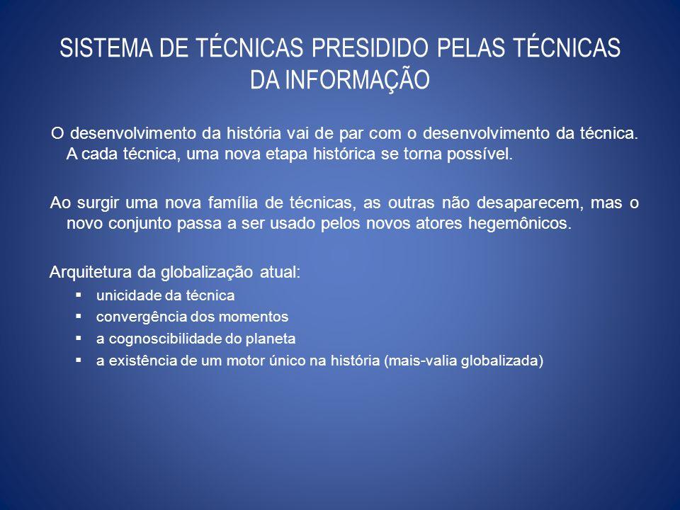 A UNICIDADE DA TÉCNICA técnica da informação por meio da cibernética, da informática e da eletrônica.