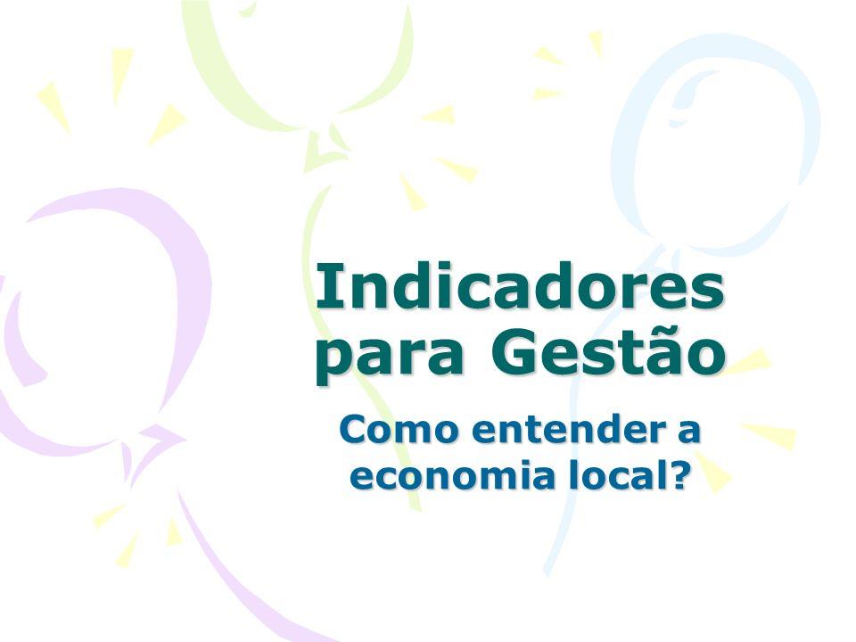 Indicadores para Gestão Como entender a economia local?