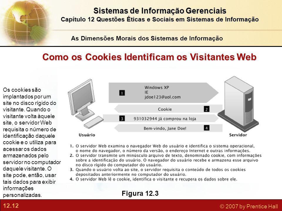 12.12 © 2007 by Prentice Hall Sistemas de Informação Gerenciais Capítulo 12 Questões Éticas e Sociais em Sistemas de Informação Figura 12.3 Os cookies