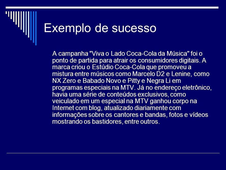 Exemplo de sucesso A campanha
